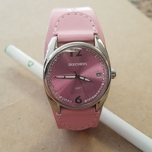 Skechers Pink Leather Watch